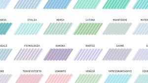 abitreenien ilmeuudistuksen uudet ainekohtaiset värit 2017