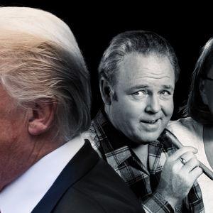 Donald Trump, tv-karaktären Archie Bunker och skådespelaren Roseanne Barr