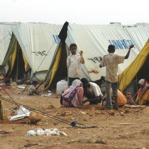 Flyktingläger i Jemen