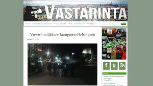 Screencap från Finska Motståndsrörelsens webbsida.