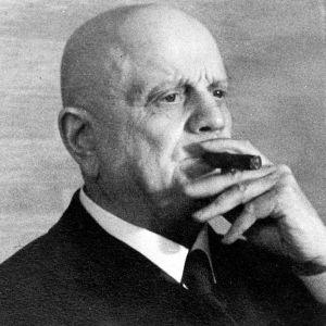 Jean Sibelius röker cigarr