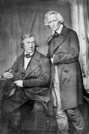 En dagerrotypi av Wilhelm och Jacob Grimm från 1847.