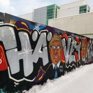 """Graffittiverk med texten """"Hävetkää"""""""