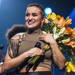 Uuden Musiikin Kilpailun 2016 voittaja ihana Sandhja.