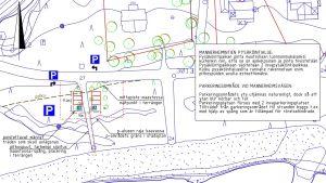En bild av en planerad parkeringsplats.