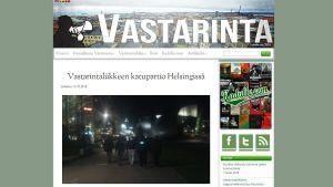 Kuvakaappaus Suomen Vastarintaliikkeen netisivulta.