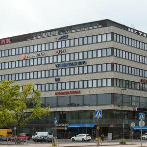 Fackföreningarnas hus i Hagnäs i Helsingfors i september 2015.