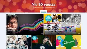 Yle 90 -juhlapäivän radio-ohjelmat koottuna Areenassa