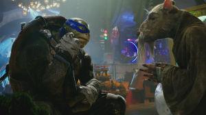 Leonardo och Splinter.