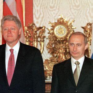 Bill Clinton och Vladimir Putin i Kremlin i juni 2000.