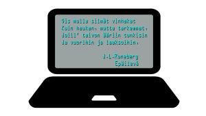 Sitaatti J.L. Runebergin runosta