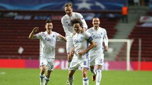 FC Köpenhamn firade målkalas i Champions League.