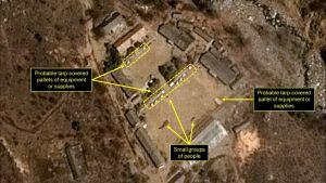 Satellitbild av Nordkoreas testanläggning