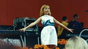 Björk på Pori Jazz 1996.