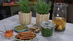 Värmande kryddte och rosmarinolja
