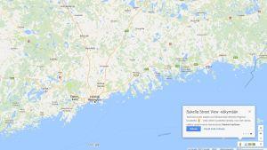 Vy i Google Maps över Helsingfors.