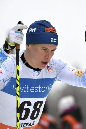 Matti Heikkinen skidar, februari 2017.