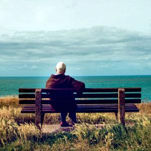 Yksinäinen maiseman katselija