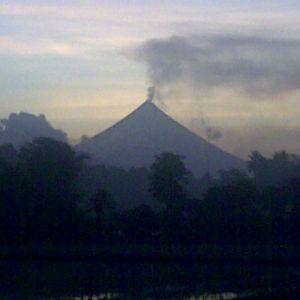 Vulkanen Mayon i Filippinerna.