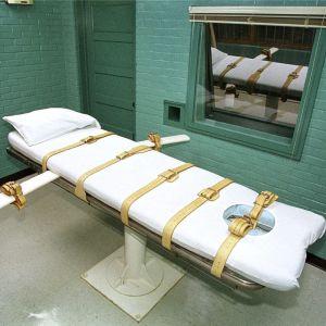 Avrättningsrum i ett fängelse i Huntsville, Texas.