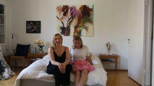 Antonia Hamberg och Fanny Tavastila