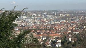 Stadsvy över Stuttgart.