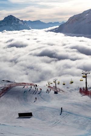 St Moritz, backen.