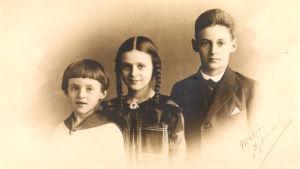 de tre barnen bernstein, atos, pia och daniel 1923