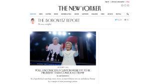 Kuvakaappaus The Borowitz Report -sivustosta.