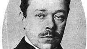 Hjalmar Söderberg med mustasch och sorgsen blick.