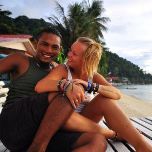 Idag bor Isa och jag tillsammans på Perhentian Islands.