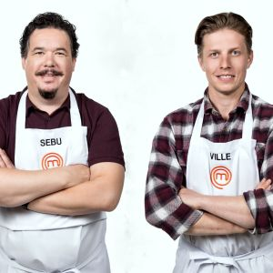 Sebu Björklund och Ville Kärki tävlar i Masterchef Finland.