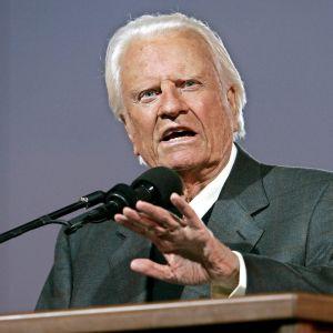 Porträtt av den amerikanska evangelisten Billy Graham.