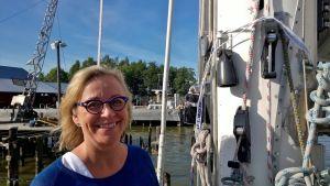 Skepparen Maarit Jaanti från Segelfartygsstiftelsen STAF.