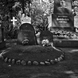 Zacharias Topelius barns, Rafaels och Rosas grav på Helsingfors gamla kyrkogård 1938, kvarter 20