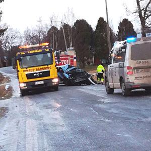Bilolycka i Solf.