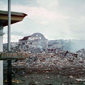 Taisteluissa tuhoutunutta Viipuria 1941