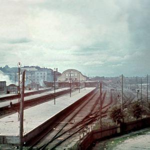 Viipurin rautatieasema ja ratapiha 1941