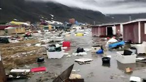 Översvämningar i Nuugaatsiaq på Grönland.