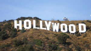 Kuuluisa Hollywood -kyltti Hollywood Hills -vuorella Kaliforniassa.
