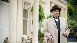 "David Suchet som Hercule Poirot i ""Dead Man's Folly""."