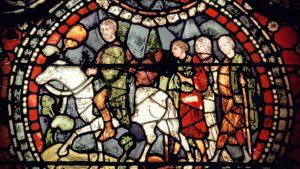 kirkkomaalaus, pyhiinvaeltajia