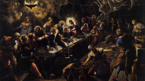 Jesu sista måltid av Tintoretto.