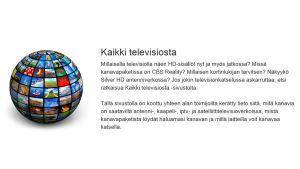Kuvakaappaus kaikkitelevisiosta.fi-sivuston etusivusta