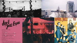 Kollage av bilder från April Jazz