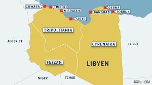 Det kaotiska läget i Libyen har lett att landet har splittrats i tre traditionella territorier som eftersträvar större självsttyre eller till och med självständighet