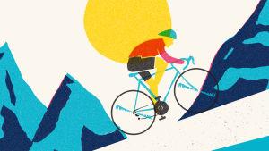 """Scalatore"", illustration ur Johan Tell bok En Cyklo Pedi"