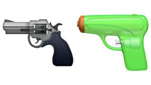 Apple byter ut sin pistolemoji mot en vattenpistol