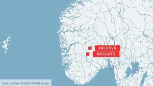 Karta över Norge.