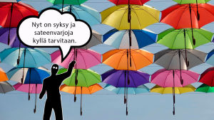 Suojiksen kuplakuva - Sateenvarjot